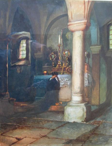Gattoli1G- Altare nella chiesa di San Daniele in castello